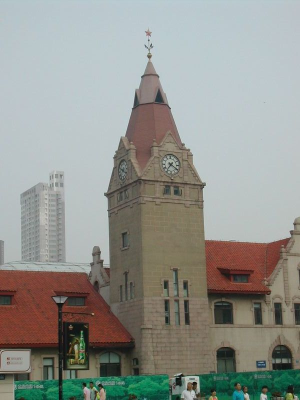 青島鉄道駅の時計塔