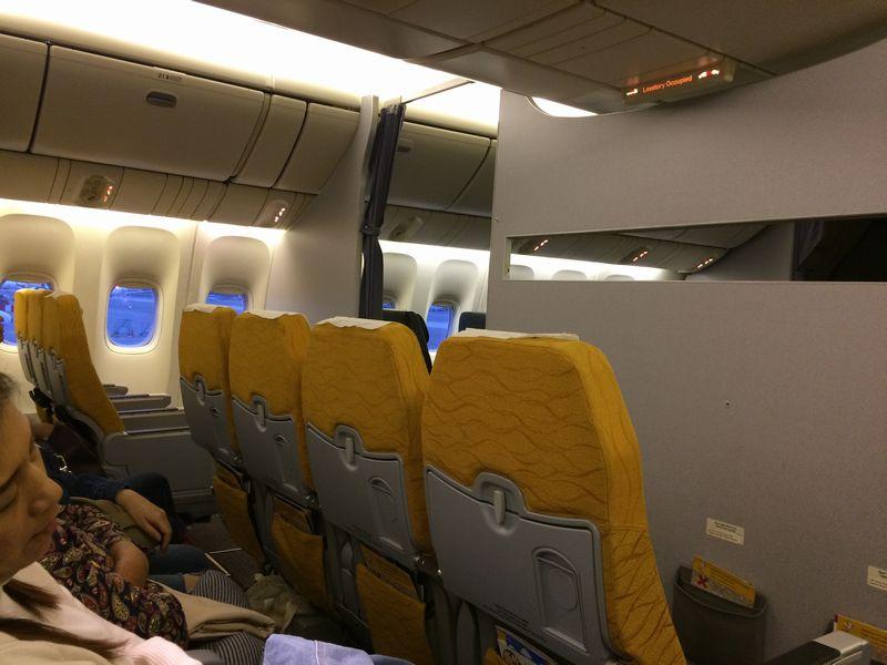 最前列のシートへの移動は断られ、空席のままだった