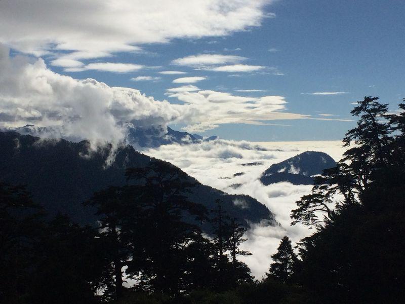 天池山荘からの眺め