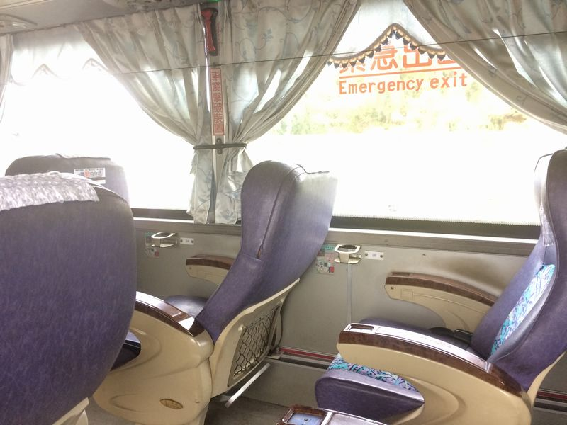 国光号バスの車内
