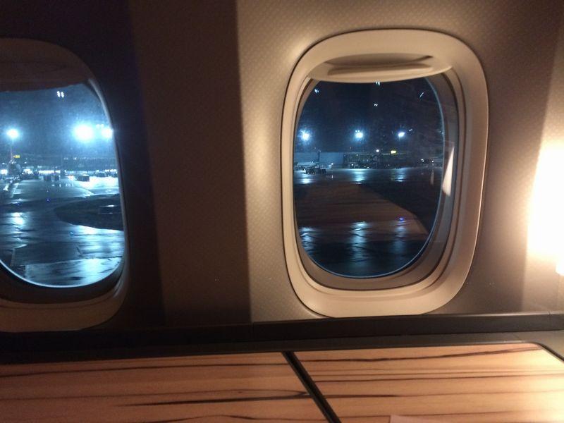 雨の桃園空港