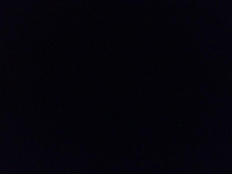 満天の星空も写真に撮ると真っ暗