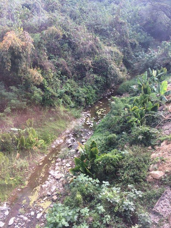 分水嶺を越えてすぐの谷