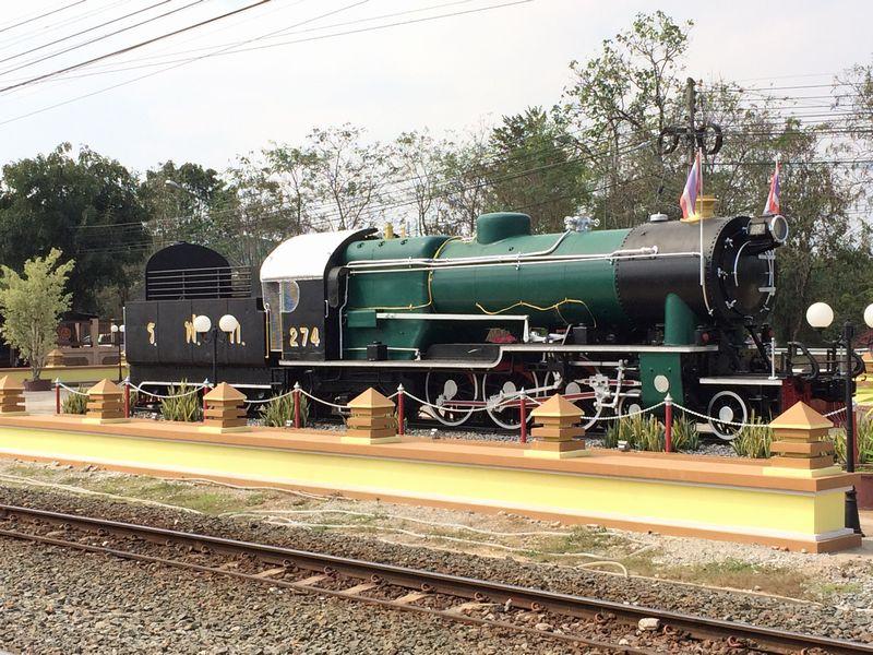 シラアット駅に保存されている汽車