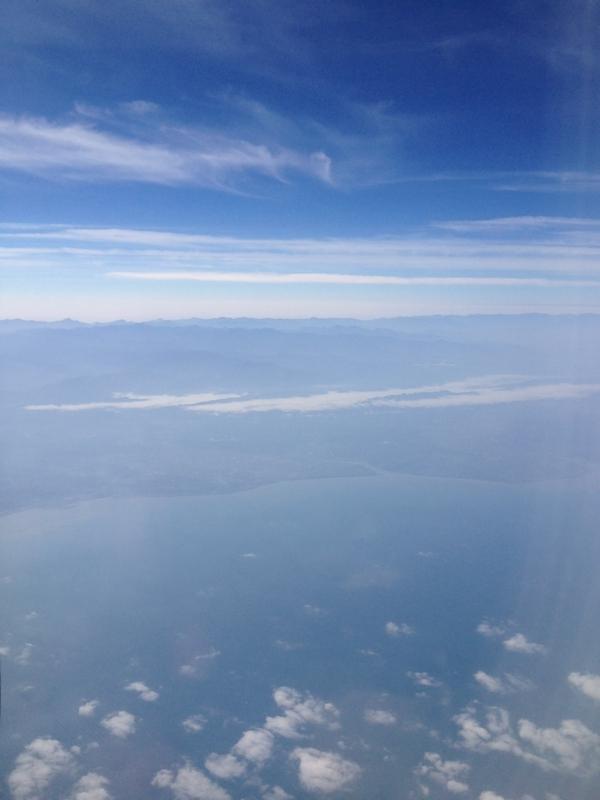 澎湖島上空より台湾を臨む