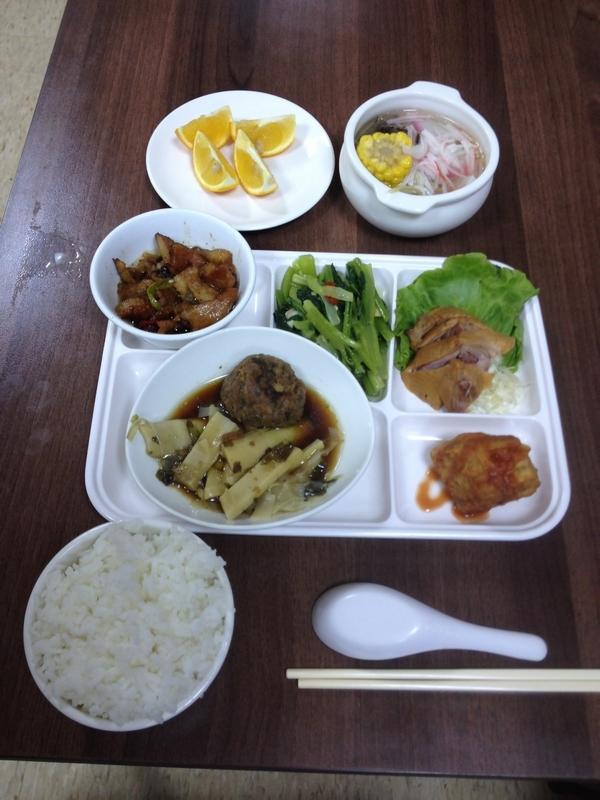 蘆山園大飯店の夕食