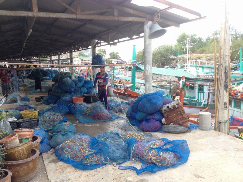 タキアップの漁港