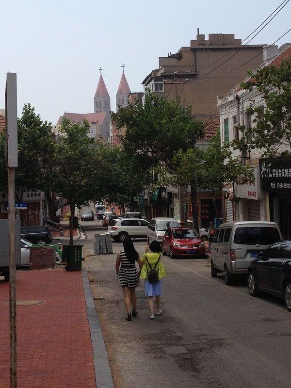 旧市街 中山路で下車したところ