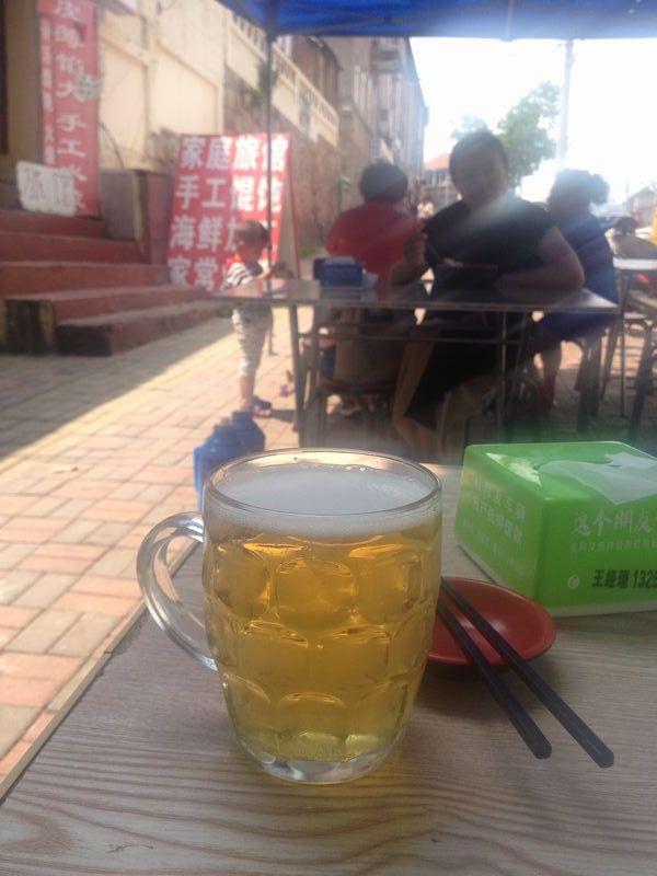 青島の生ビール