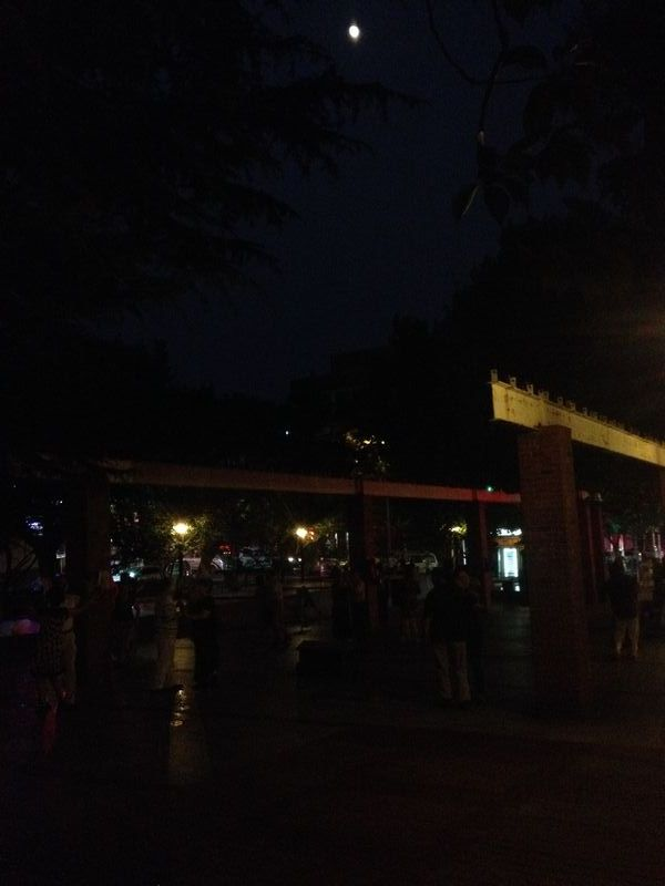 夜の公園で社交ダンス