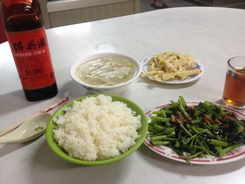 花蓮の小吃で夕食