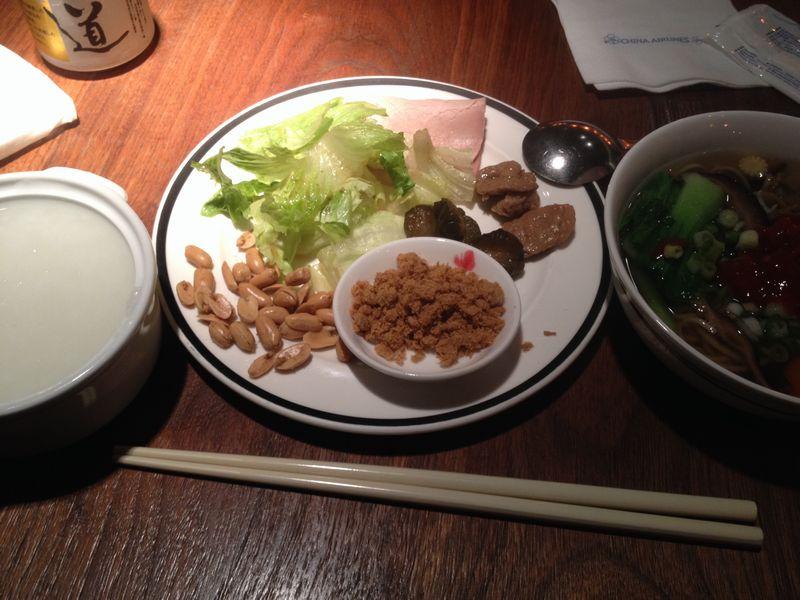 台湾粥の朝食