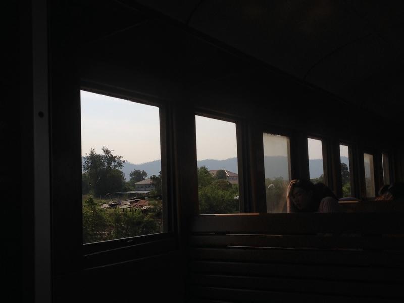 カオキアオの山が見えてくる