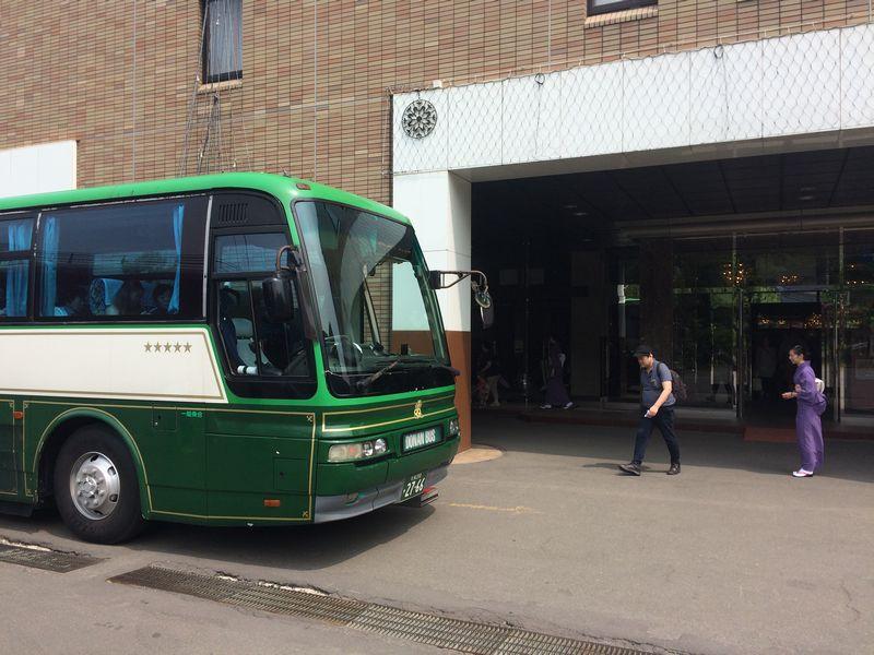 札幌へ戻るバス(道南バス)