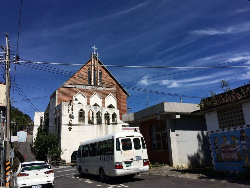 蘆山部落のバス折り返し場
