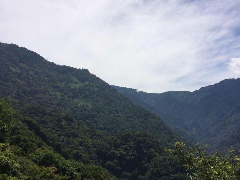 台湾中央山脈の分水嶺