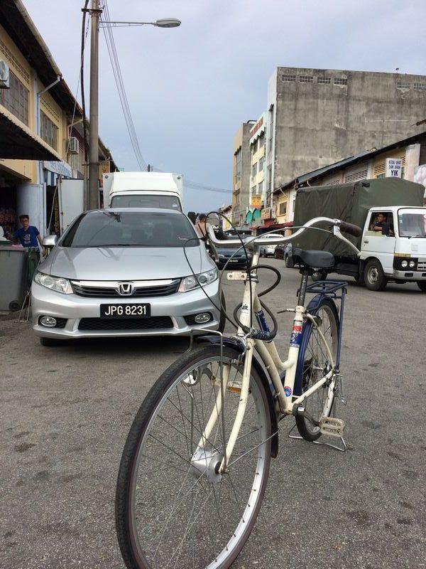 レンタルできた自転車