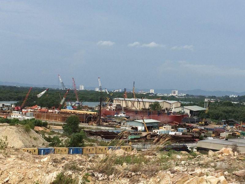 現在のバトゥパハにある造船所