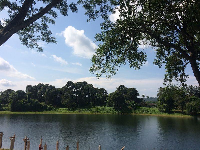 露天掘り跡の池